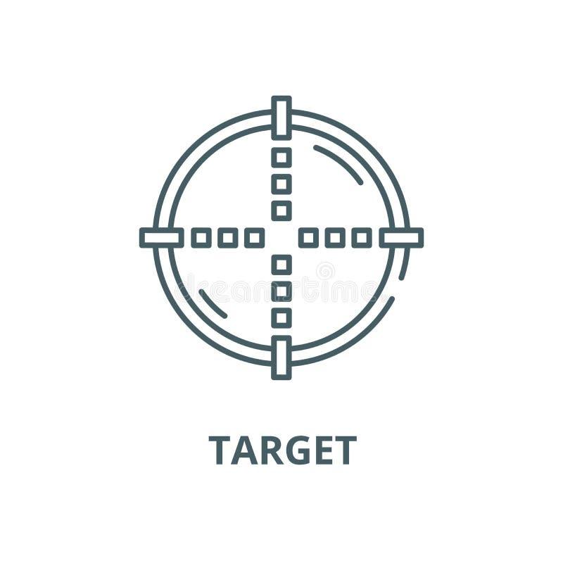 Target vector line icon, linear concept, outline sign, symbol vector illustration
