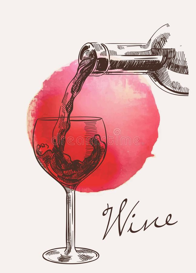 target3052_1_ wino ilustracji