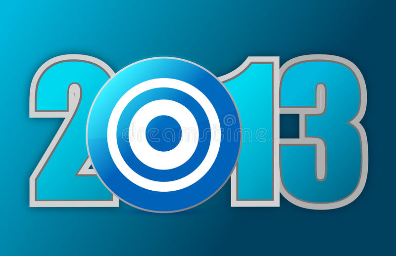 Download Target year 2013 stock illustration. Illustration of mission - 28052928