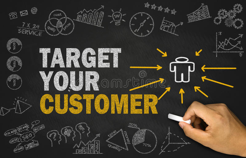 Target your customer concept stock photography