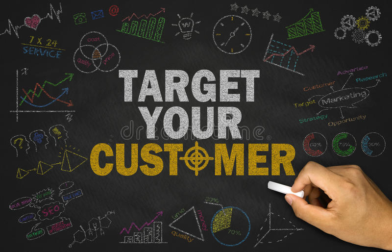 Target your customer concept royalty free stock photography