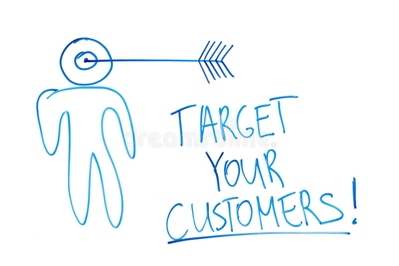 Download Target your customers stock photo. Image of targeted - 20585754
