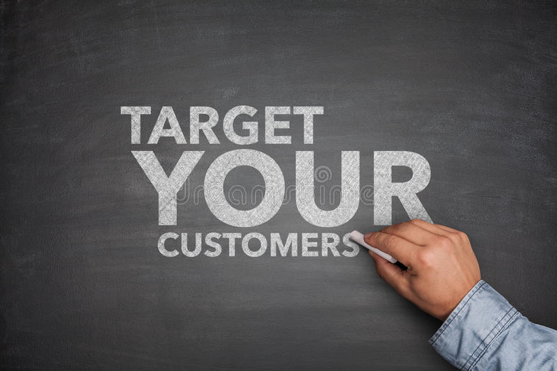 Target your customers on Blackboard royalty free stock photography