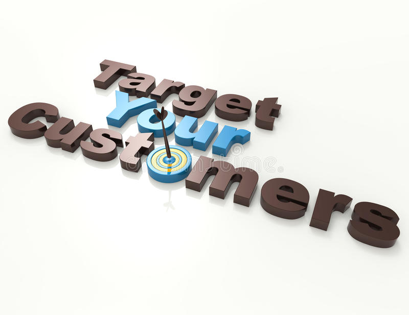 Target Your Customers royalty free illustration