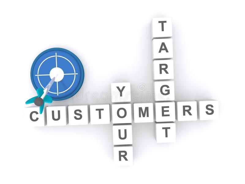 Target your customers stock illustration