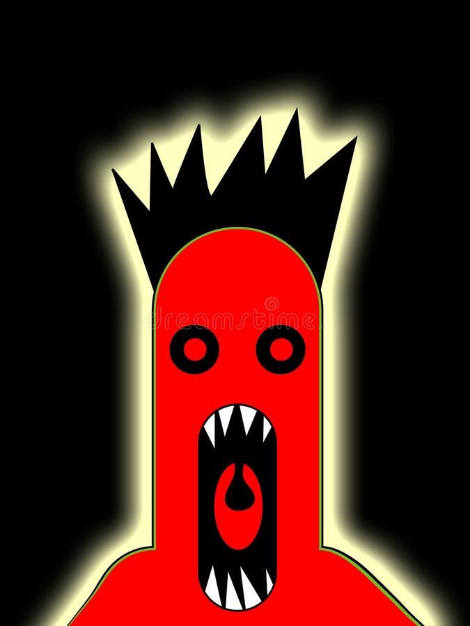 TARGET1009_0_ 3 straszny Potwór royalty ilustracja