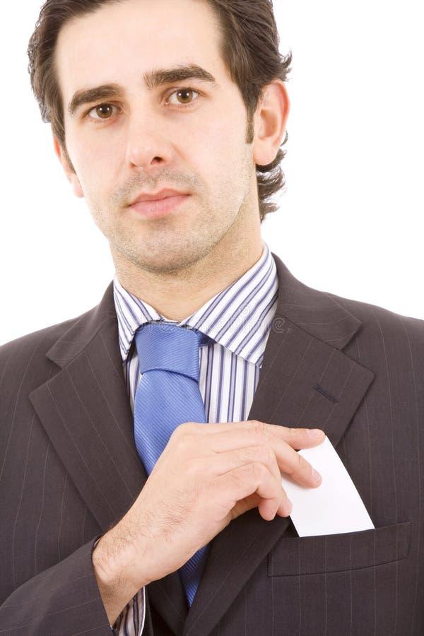 TARGET101_1_ pustą kartę biznesowy mężczyzna zdjęcie royalty free