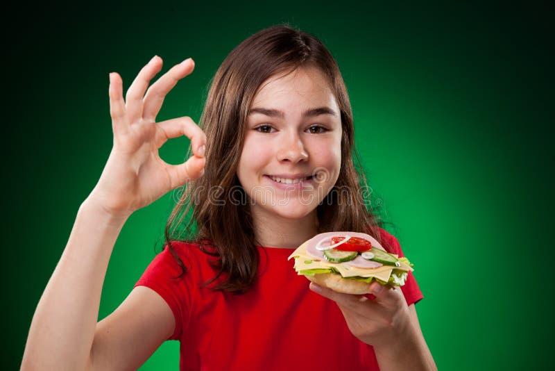 target1078_1_ dzieciak zdrowe kanapki obrazy royalty free