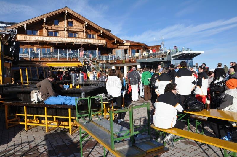 target1098_0_ Austria afterparty narciarki zdjęcia stock