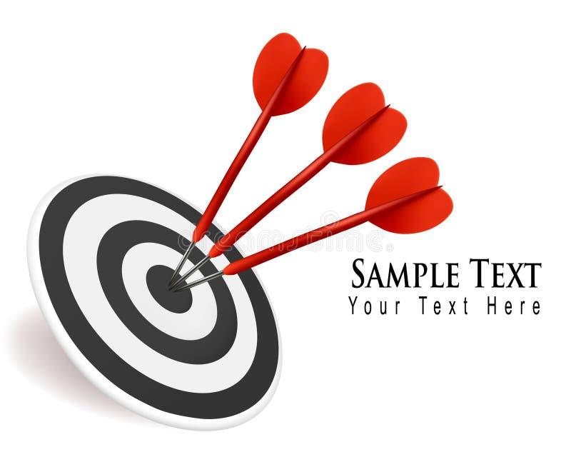 target1132_1_ sukcesu cel pojęcie strzałki trzy ilustracja wektor