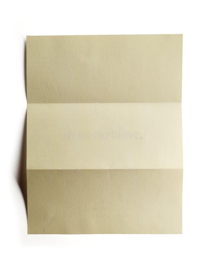target1169_1_ fałdowa papierowa ścieżka fotografia stock