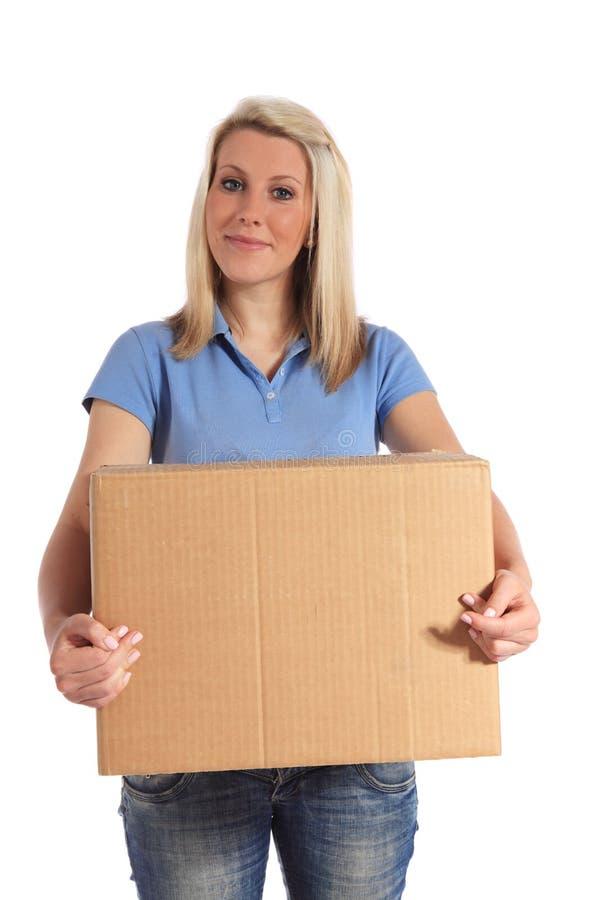 target1266_1_ kobiet potomstwa pudełkowaty przewożenie zdjęcia stock