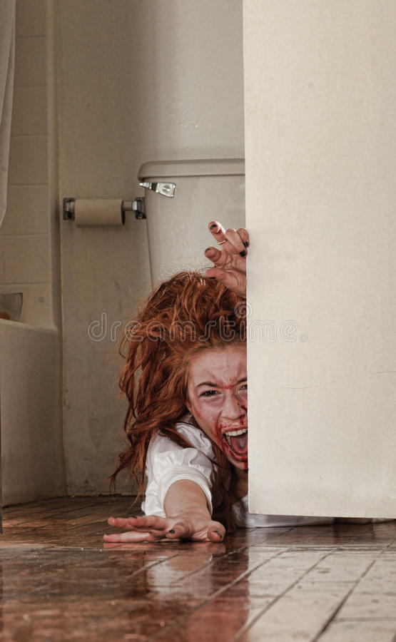target127_1_ freightened horroru wizerunku kobiety fotografia stock