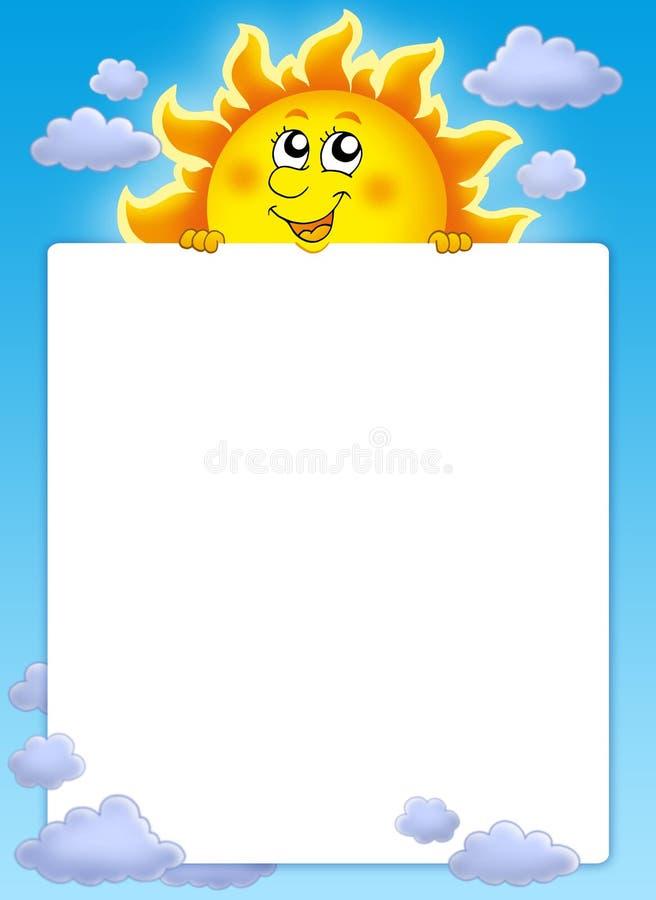 target131_0_ śliczny ramowy słońce royalty ilustracja