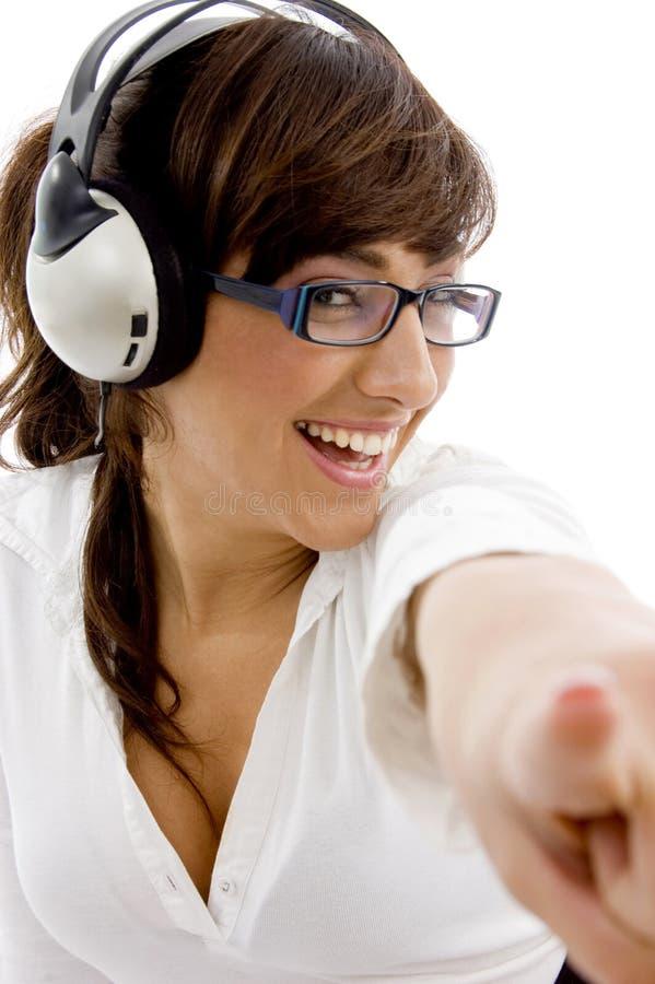 target1349_0_ uśmiechniętego widok bizneswomanu przód zdjęcie royalty free