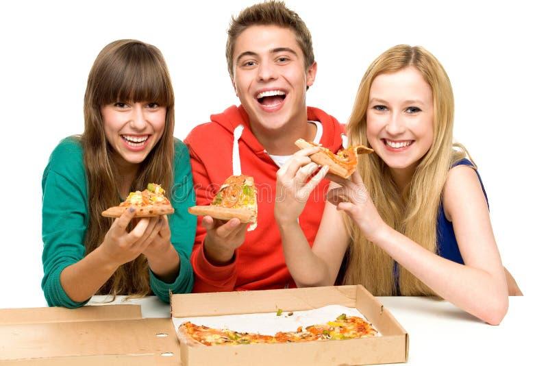 Target1368_1_ Pizza Grupowych Nastolatków Obrazy Royalty Free