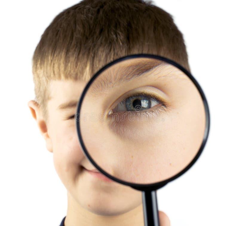 target1458_0_ szklany dzieciak używać fotografia stock