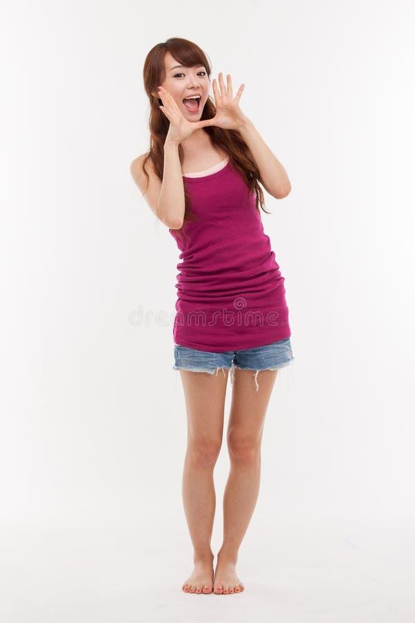 TARGET147_0_ młoda Azjatycka kobieta zdjęcie stock