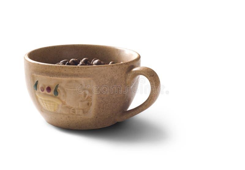 target1490_0_ filiżankę odizolowywający fasoli cofee odizolowywał zdjęcie stock