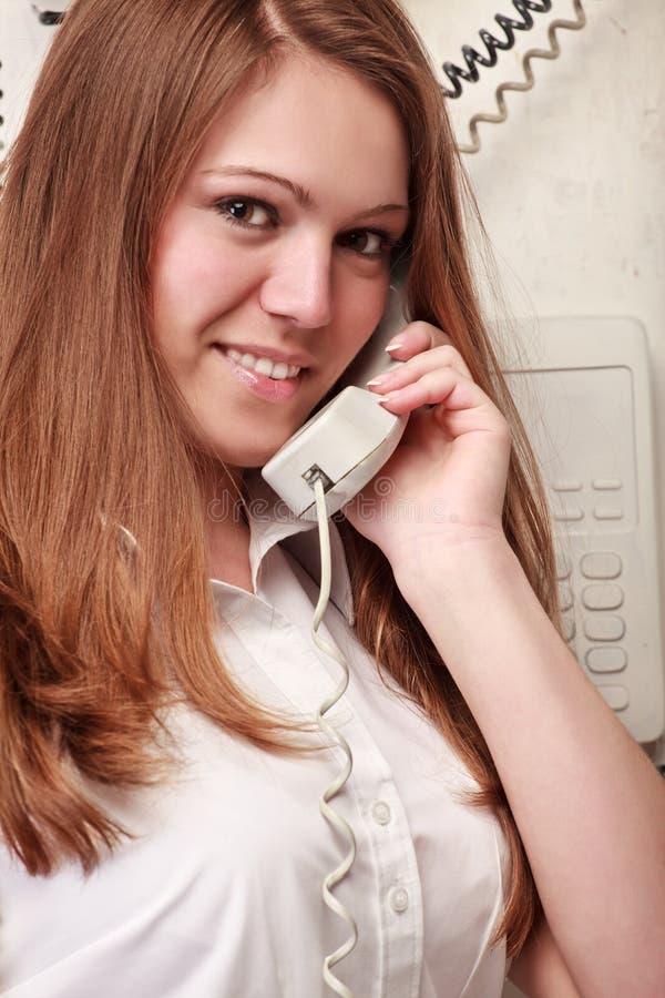 target1505_0_ telefon kobieta zdjęcia royalty free