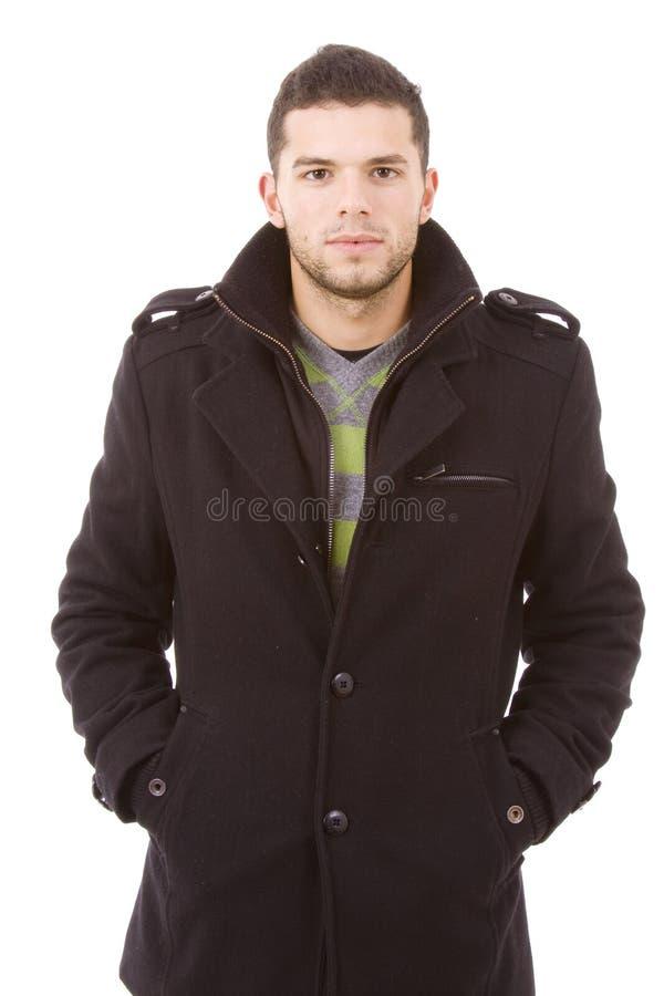 TARGET152_0_ zima płótna portret młody człowiek fotografia royalty free
