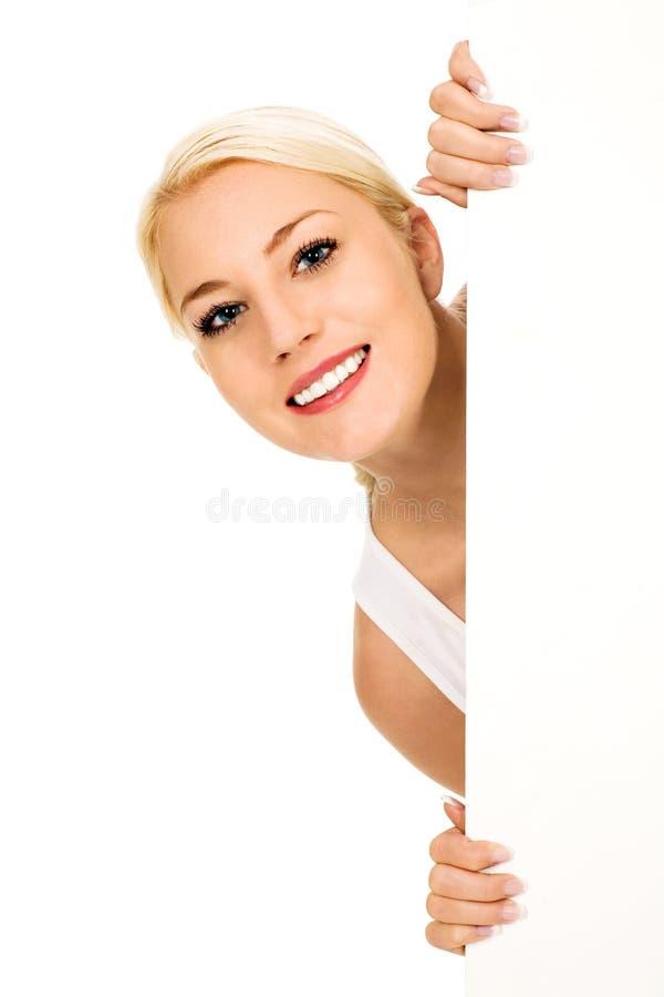 target1535_1_ szyldowej kobiety obraz stock