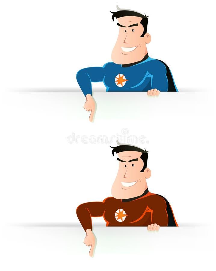 target1550_0_ szyldowy super komiczny bohater ilustracja wektor