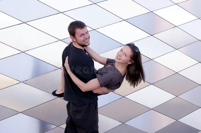 target1555_0_ wpólnie kobiety szczęśliwy para mężczyzna obrazy stock