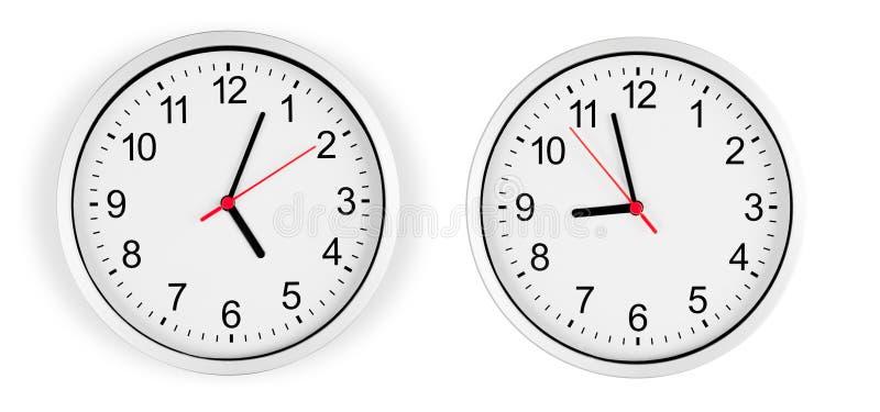 target159_1_ zegar odizolowywająca ścieżki ściana fotografia royalty free