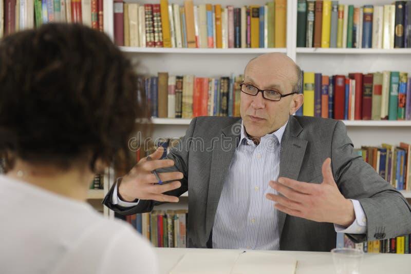 target1604_0_ kobieta advisor psycholog obrazy stock