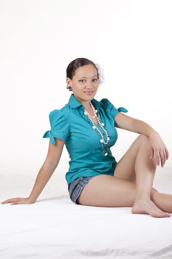target164_1_ kobiet potomstwa etniczni mieszani skróty obraz royalty free