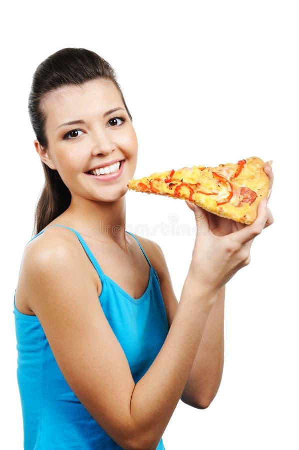 target1658_1_ kawałka pizzy kobiety obraz stock
