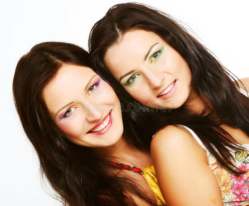 target1690_0_ wpólnie dwa przyjaciel dziewczyna zdjęcie stock