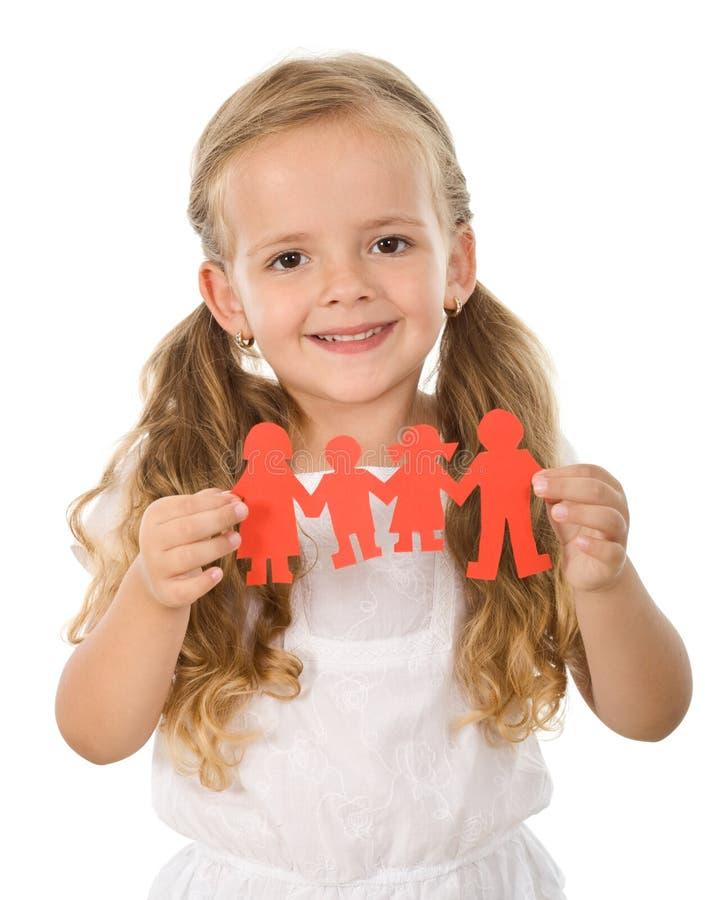 target1830_1_ małych papierowych ludzi rodzinna pojęcie dziewczyna fotografia royalty free