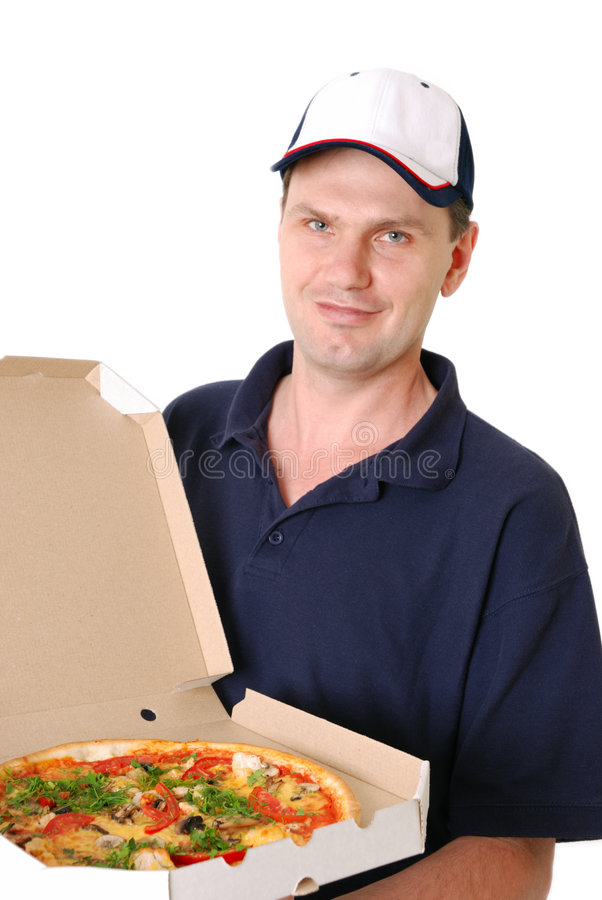 target1851_0_ mężczyzna pizzę obrazy royalty free