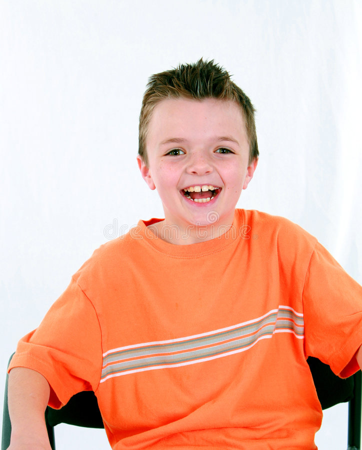 target1891_0_ trochę chłopiec krzesło zdjęcie royalty free