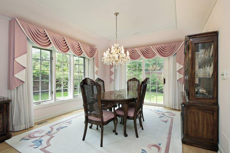 target1894_0_ draperie różowią pokój fotografia royalty free