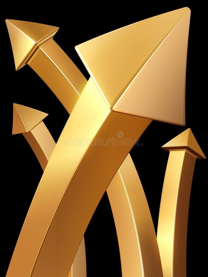 target1936_0_ w górę wartości pojęcia strzałkowaty złoto ilustracja wektor