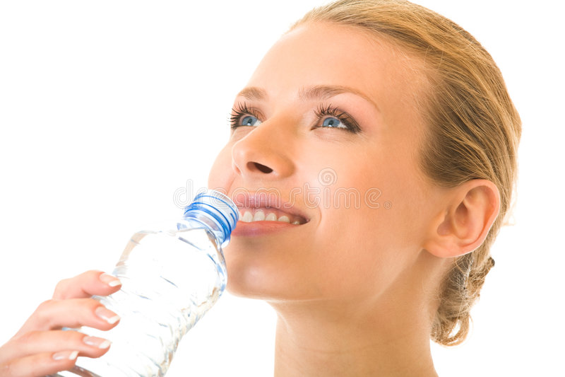 target200_0_ odizolowywająca wodna kobieta fotografia royalty free