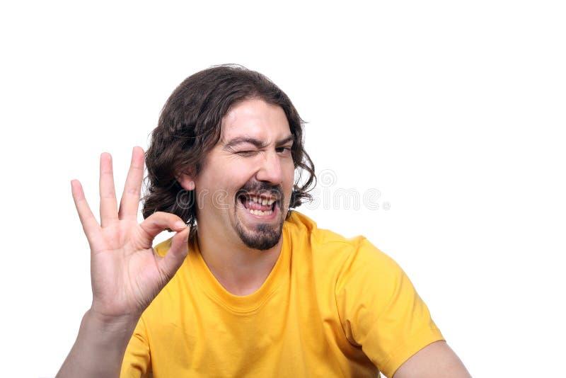 target204_1_ przypadkowego oka szczęśliwy mężczyzna zdjęcia stock