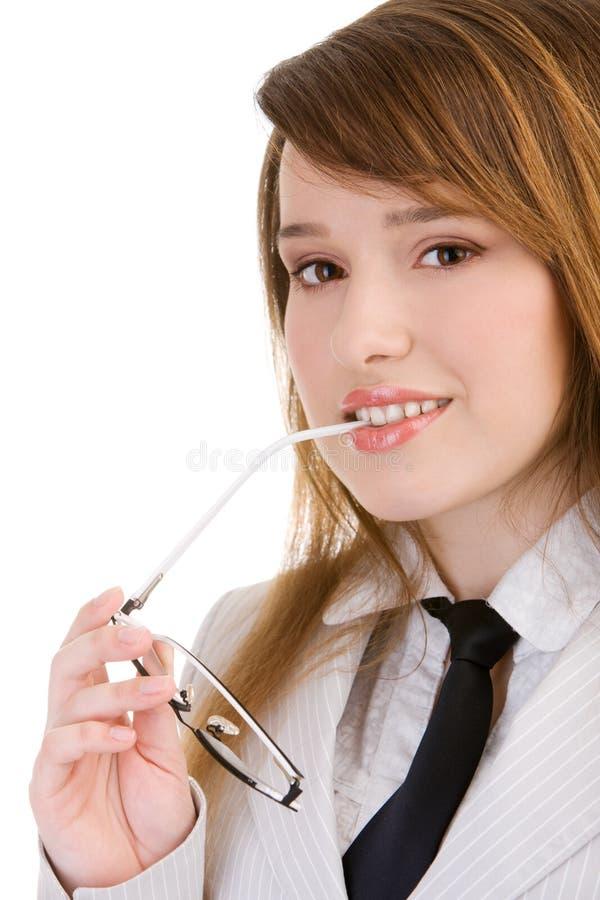 target2070_1_ kobiety biznesowi szkła obrazy stock