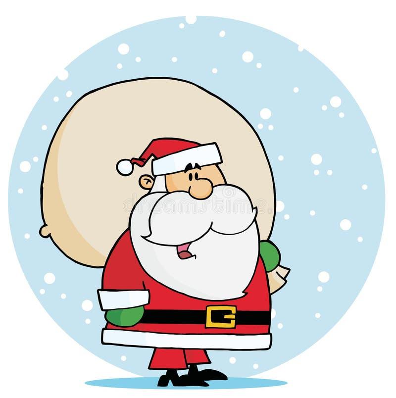 target2075_1_ workową Santa śniegu zabawkę ilustracja wektor