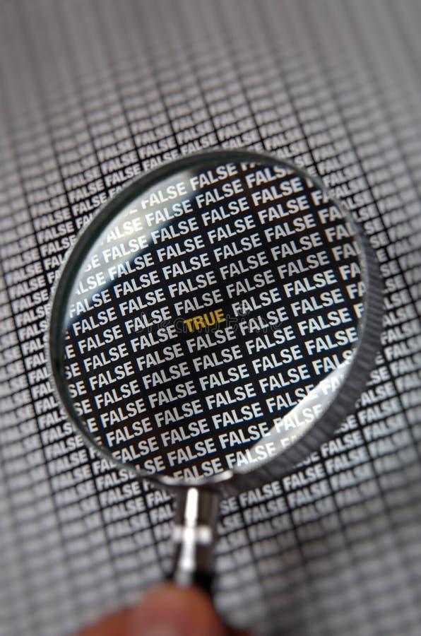 TARGET220_0_ prawdziwych falses zdjęcie stock