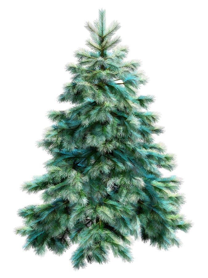 target2284_1_ ścieżki drzewa błękitny boże narodzenia ilustracja wektor