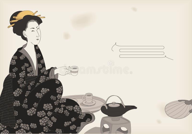 target2413_0_ herbaciana kobieta ilustracji