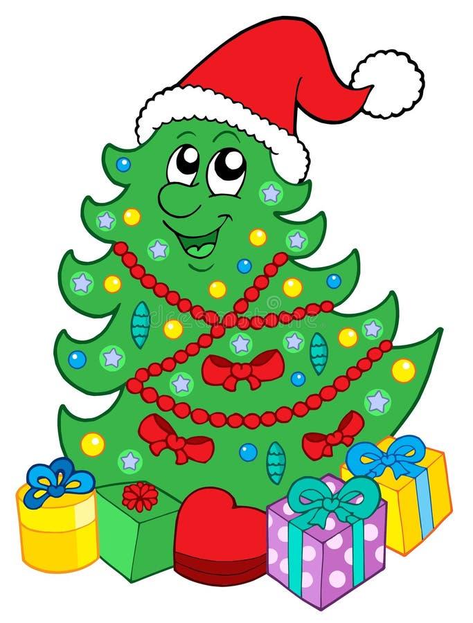 target2472_0_ drzewa Boże Narodzenie prezenty ilustracja wektor