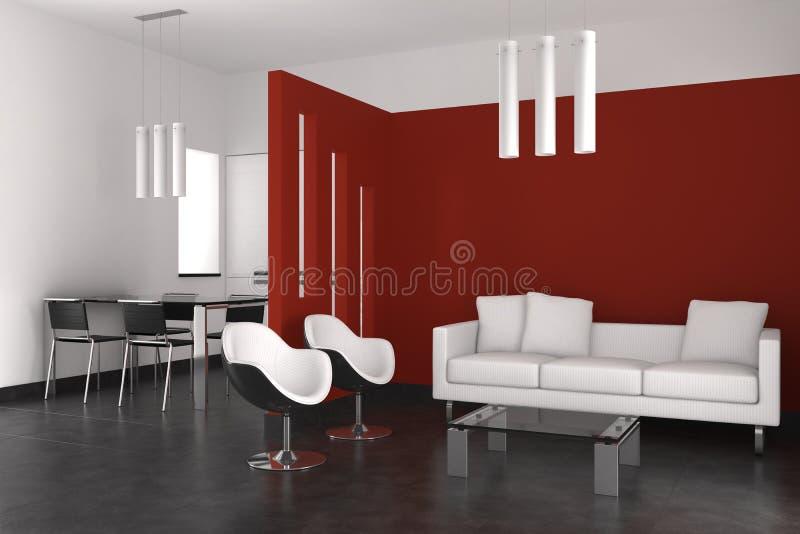 target2535_0_ kuchenny żywy nowożytny pokój royalty ilustracja