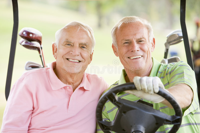 target2671_0_ przyjaciół gry golfa samiec zdjęcia royalty free