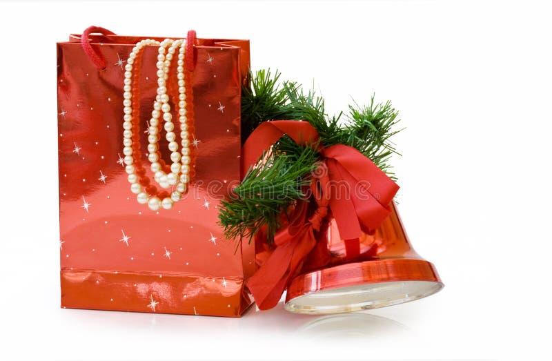 target270_1_ prezent ścieżkę toreb boże narodzenia fotografia stock