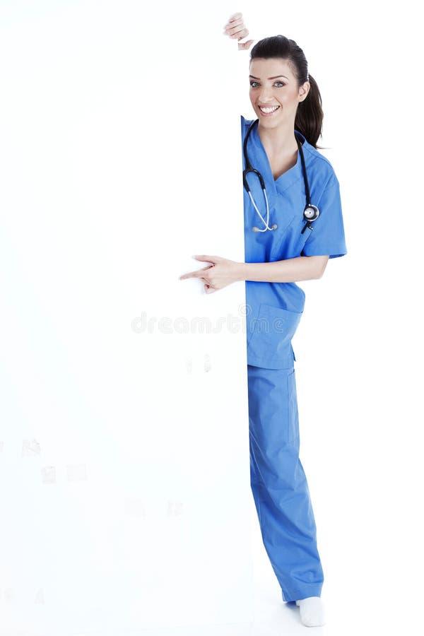 target2764_0_ uśmiechniętych potomstwa pusta deskowa pielęgniarka obrazy royalty free